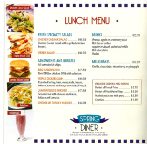 Britannique Carte Restaurants Fast Food